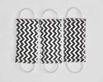Charcoal Chevron (3 PACK) handmade nursery gift, baby room decor, door knob stopper, cotton, padded, door cushion, door guard LATCHY CATCHY