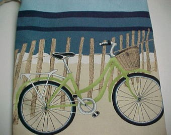 "Reversible Crossbody Bag ""BEACH BIKE"" iPad Boho  Washable  Sling Purse with Keychain / Bagcharms"