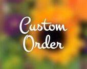Custom order for mushroom terrarium
