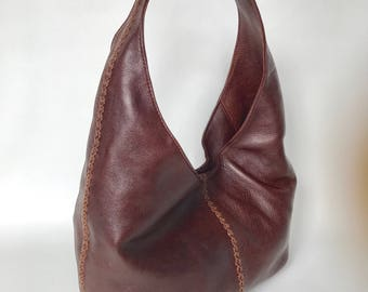 Unique Leather Hobo Bag with Braided Design, Ladies Purses, Fashion Handbags, Alison
