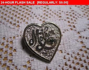 vintage Gerrys Mother's pendant pin heart brooch