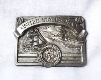 Vintage United States Navy buckle...USN buckle...Department of the NAVY seal...Masterpiece Collection...Buckles of America.