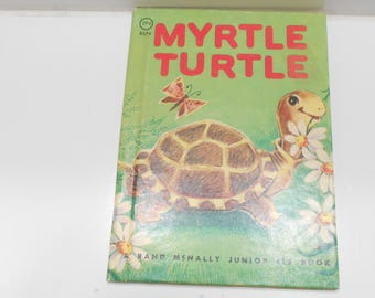 Vintage 1961 Copyright (17-A) Myrtle Turtle, A Rand McNally Junior Elf Book