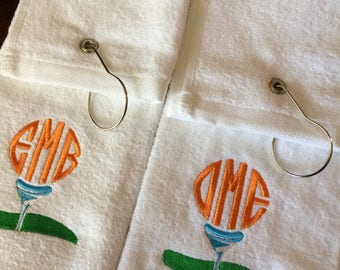 Personalized Monogrammed Grommeted Trifold Golf Towel great for Groomsmen Gift or Corporate Gift