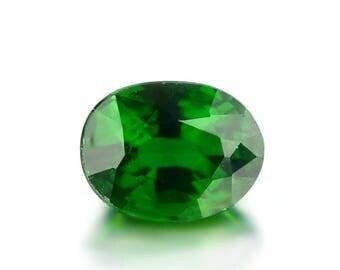 0.74ct Chrome Green Tourmaline 6x4mm Oval Shape Loose Gemstones (Watch Video) SKU 609A002