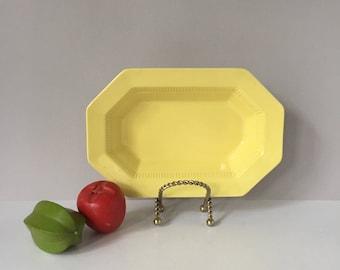 1776 Independence Ironstone, Yellow Daffodil Larger Vegetable Bowl, Vintage Serving Bowl, Castleton China Japan, Mid Century Dinnerware
