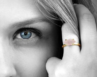 SUMMER SALE - Rose quartz ring,gold ring,gold filled ring,solid gold ring,gemstone ring,marquise ring,pink ring