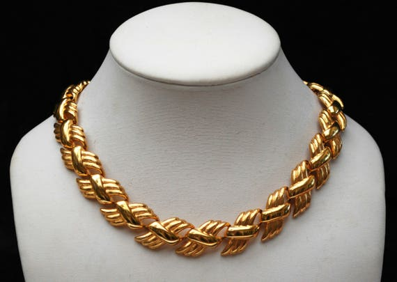 Napier Link  Necklace - Gold Plate Link - Carlyle Series - Book Piece - necklace