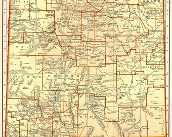 New Mexico State Map Etsy - New mexico map