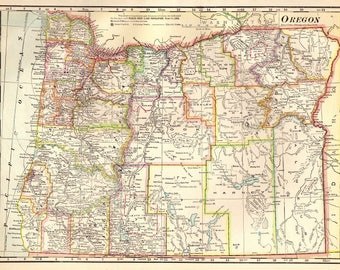 Oregon Map Etsy - Map of oregan