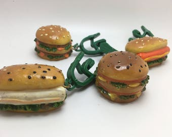 Vintage Hamburger and Hotdog Tablecloth weights