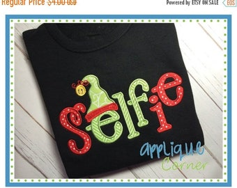 40% OFF INSTANT DOWNLOAD sELFie applique design in digital format for embroidery machine by Applique Corner