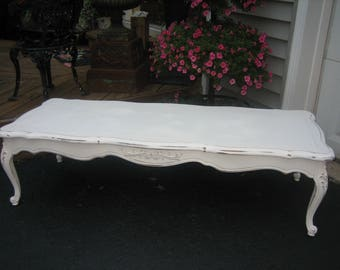 long french shabby chic coffee table