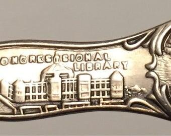 Vintage White House Washington Monument Souvenir Demitasse Spoon