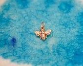 Bumble Bee Charm - Bee Charm - Queen Bee Charm - Rose Gold Bee - Gold Bee - Honey Bee Charm - Queen Bee - Golden Bee - Bee Theme Gift