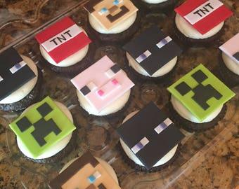 Minecraft Cupcake Topper