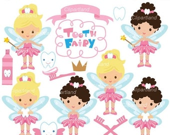 ON SALE INSTANT Download. Cf_6_Tooth Fairy. Tooth Fairy clip art. Personal and commercial use.