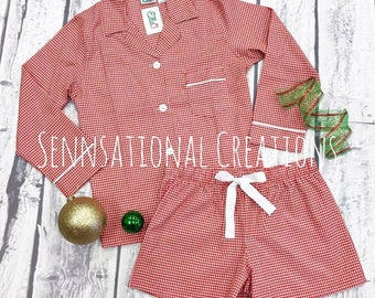 LIMITED EDITION- Red Gingham Sleep Sets