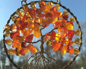 Autumn Tree of Life Sun Catcher
