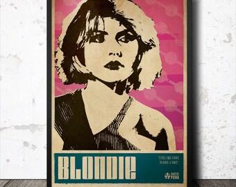 Debbie Harry Blondie Punk Art Poster