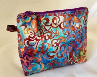 Chakra Batik Zippered Bag