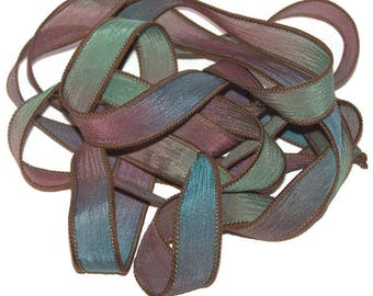 Tapestry/Sassy Silks Hand Painted Silk Ribbon/Wrist Wraps/Jewelry Supplies/Findings/Beads/End Caps/JumpRings/Leather Cord/Charms