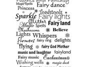 Word Stamp, Fairy Words, Lavinia Stamps, Acrylic Stamp