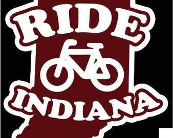 Ride Indiana Sticker