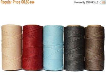 ON SALE Micro Macrame Cord - 50 METERS - Waxed Polyester Linhasita - Beading Thread - Waxed Cord