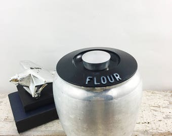 Vintage Aluminum Kromex Flour Canister