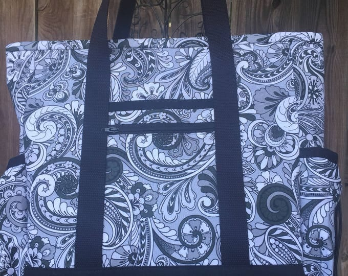 Kitchen Sink Tote - Large Tote Bag with Pockets for Teacher, Nurse, Work, Diaper Bag, Carry On, Professional