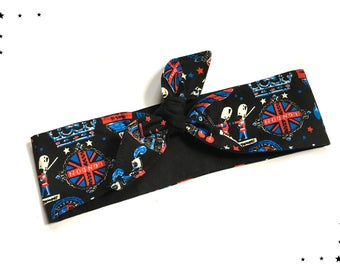 Rockabilly headband London black UK