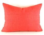 """CLEARANCE SALE 16""""x12""""   Indoor Outdoor Lumbar Pillow Cover Robert Allen Outdoor Baja Poppy"""