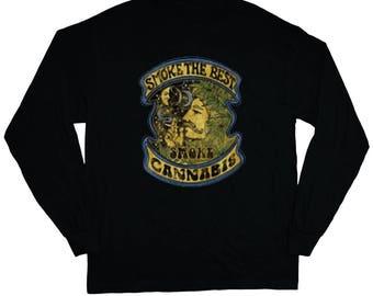 Smoke Cannabis Shirt Long Sleeve Tee