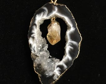 Agate Geode Necklace