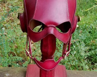 Leather Steampunk Flash Cowl. Ready to ship!