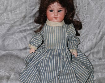 """Antique Armand Marseille Bisque Doll - Made in Germany - 390n 3/0 X-M - Composition Body - Blue Glass Eyes - 14"""""""