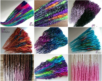 CUSTOM Synthetic crocheted dreads - Transitional / Ombre / splashed etc - ** DEPOSIT ONLY ** 50 double ended synth dreadlocks de