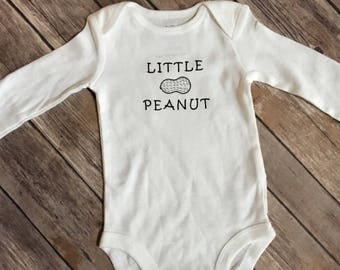 Little peanut bodysuit, newborn, baby shower gift, unisex baby gift, unisex baby outfit, baby gift, mom to be, new mom gift, baby, outfit