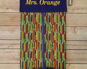 Classroom Door Safety Curtain--Colored Pencils