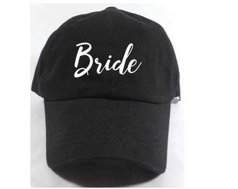 Bride Embroidered Adjustable Dad Baseball Cap Twill 6 Panel Hat - Baseball Cap