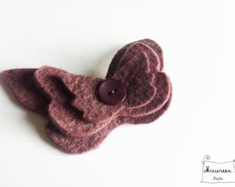 Butterfly Barrette old Pink/Purple