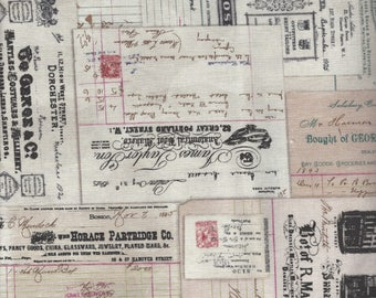 Vintage Receipts in Multi from Dapper by Tim Holtz