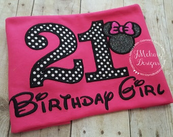 Disney-Inspired Birthday Shirt - 16th - 21st - 40th - 50th - 60th - Custom Birthday Tee 802 dots