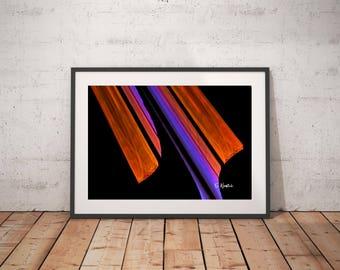 Orange black abstract art, fractal art, art print, minimalist art,modern art, geometric art, abstract art,sacred geometry,computer geek gift