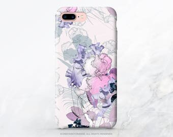 iPhone 7 Plus Case Iris Floral iPhone 7 Case iPhone 6S Plus Case iPhone SE Case iPhone 6 Case iPhone Case iPhone 5 Case Samsung S8 Case T28