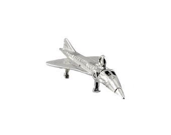 Sterling Silver Movable Concorde Charm For Bracelets