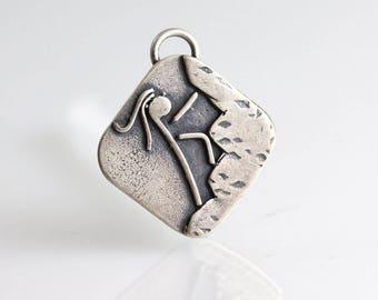 Rock Climbing Jewelry - Sterling Pendant - Climbing Jewelry - Gifts for Women