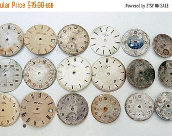 ON SALE Vintage Watch Faces - set of 18 - c140