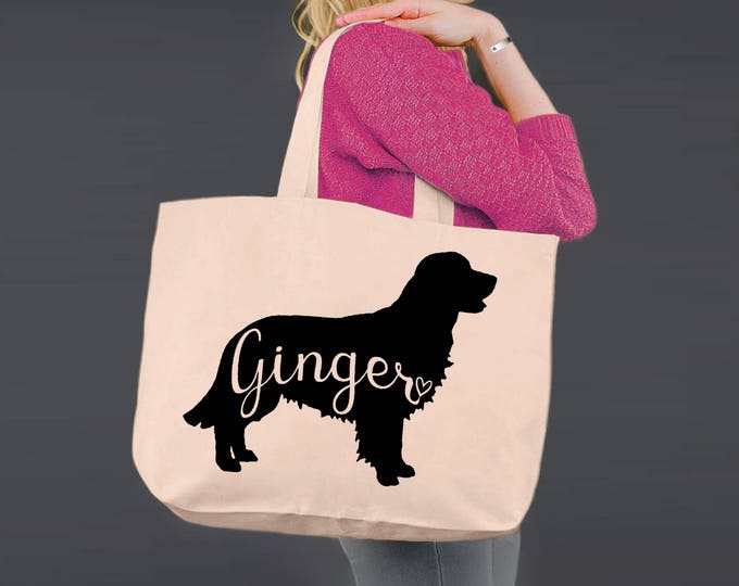 Golden Retriever | Tote Bag | Canvas Tote Bag | Beach Tote | Canvas Tote | Shopping Tote | Shopping Bag | Dog Tote | Korena Loves